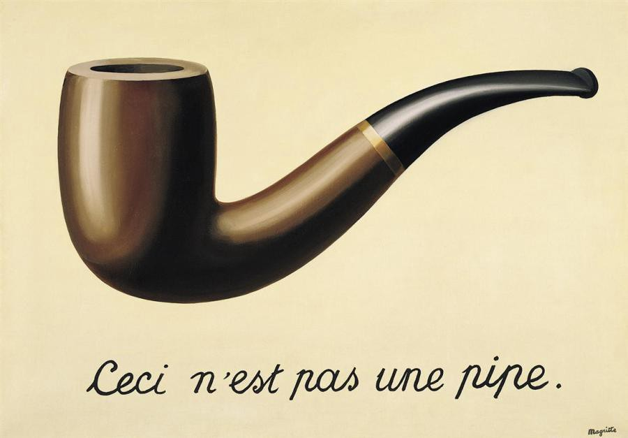 """The Treachery of Images"" by René Magritte"